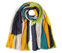 Seidenmix Schal im Colourblock