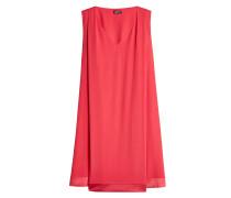 Kleid mit Saum aus Satin