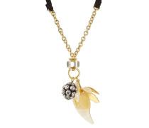 Halskette mit Schmucksteinen und Strass