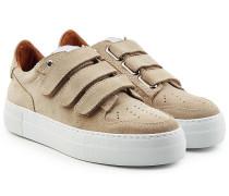 Sneakers aus Veloursleder mit Klettverschluss