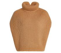 Ärmelloser Rollkragenpullover mit Fleece-Wolle