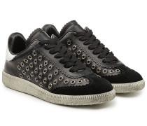 Sneakers Bryce aus Leder und Veloursleder mit Nieten