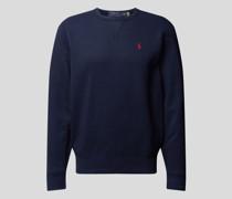Sweatshirt mit Label-Stitching