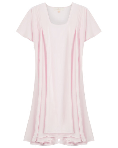 Volant-Kleid aus Seide