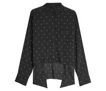 Bedruckte Bluse mit High-Low-Saum