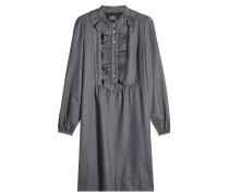 Kleid aus Wolle mit Rüschen