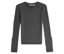 Pullover mit Wolle und geschlitzten Manschetten