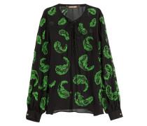 Bestickte Tunika-Bluse aus Seide