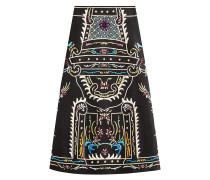 Bestickter Midi-Skirt aus Schurwolle