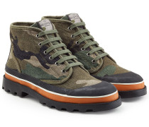 High Top Sneakers mit Camouflage-Print