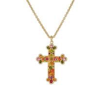 Vergoldete Halskette mit Kristallsteinen