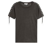 Leinen-Shirt mit Schnürungen