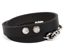 Leather Double Mixed Bracelet in Black