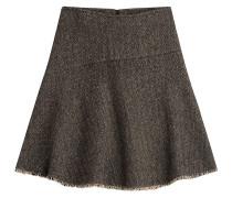 Flared-Skirt aus Wolle und Baumwolle