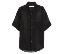 Transparente Bluse aus Seidengemisch