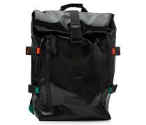 Faltbarer Rucksack mit Gurten und Zippern