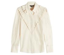 Gemusterte Bluse aus Baumwolle und Seide