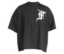Bedrucktes Baseball Shirt aus Mesh