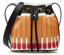 Bucket-Bag Matchstick aus Leder