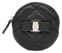 Münz-Portemonnaie aus gestepptem Leder
