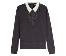 Sweatshirt mit Baumwolle, Spitze und Décor