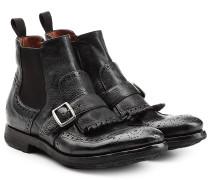 Ankle-Boots mit Schnalle und Fransen-Details