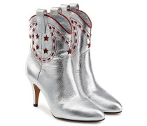 Cowboy-Boots Georgia aus Leder im Metallic-Look