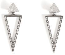 Ohrringe Bermuda Triangle aus 18kt Weißgold mit Diamanten