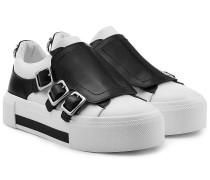 Leder-Sneakers mit Zierriemen