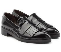 Loafers aus Leder mit Fransenlasche