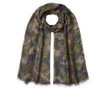 Print-Schal mit Kaschmir und Seide