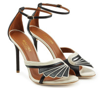 Sandalen aus Leder im Two Tone Look mit Stiletto-Heel