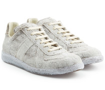Sneakers Replica aus Leinen und Baumwolle