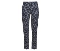 Gepunktete Straight Leg Pants aus Baumwolle