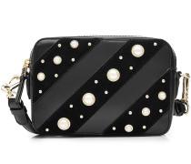 Schultertasche K/Ikonik aus Leder mit Perlen