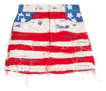 Minirock American Flag aus Denim