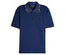 Poloshirt aus Baumwolle mit Fransen
