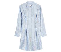 Gestreiftes Blusenkleid aus Baumwolle mit Schnürung