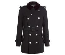 Mantel aus Wolle mit geprägten Knöpfen