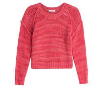 Cropped-Pullover aus Baumwolle