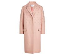 Verzierter Mantel mit Wolle