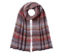 Gemusterter Schal mit Wolle