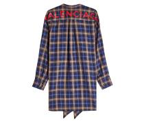 Karierte Bluse New Swing mit Logo-Print und Baumwolle