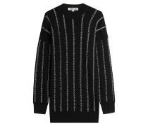 Oversize-Pullover aus Wolle mit Ketten