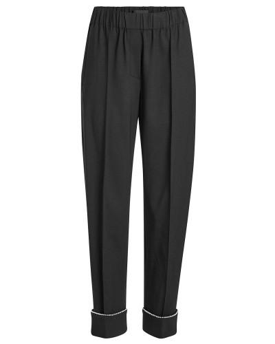 Verzierte Straight Leg Pants mit Schurwolle