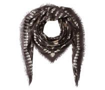 Print-Schal Voodoo Skull mit Seide