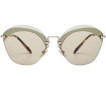Sonnenbrille mit polygonalen Gläsern