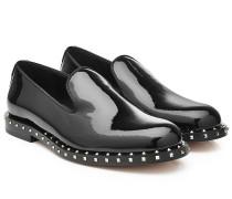 Loafers aus Lackleder mit Nieten