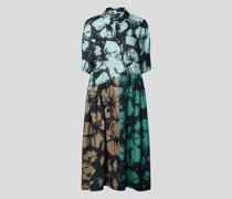 Hemdblusenkleid in Midilänge