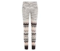 Straight-Leg-Pants aus Zickzack-Strick